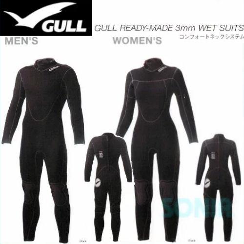 GULL(ガル) 【GW-6585/GW-6586】 レディメイド 3mm ウエットスーツIII