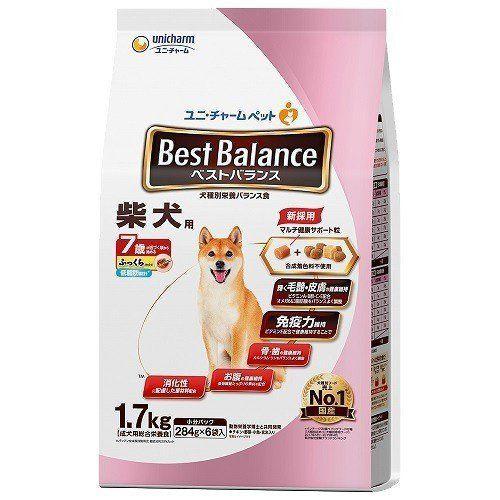 賞味期限切れ ベストバランス 柴犬用 7歳が近づく頃から始める ふっくら仕立て 1.7kg 激安通販 賞味期限2020年9月 新着 低脂肪設計
