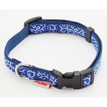ペティオ 犬雅 唐草カラー SSサイズ ブルー 首輪 高い素材 首回り:20~30cm 5kgまでの超小型犬用 新作続