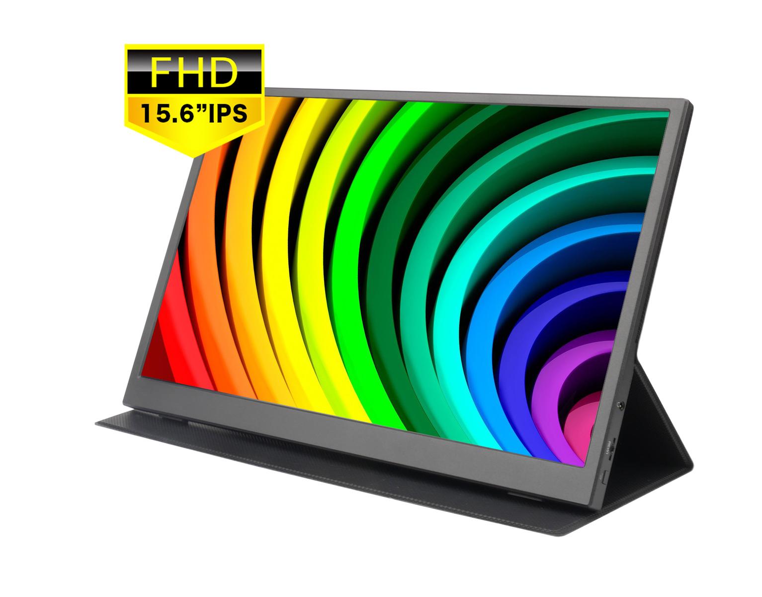 --送料無料-- 【2020年春夏モデル】1080P モバイルモニター 15.6インチ 薄さ9mmスーパースリム 1920x1080フルHD モバイルディスプレイ テレワーク対応 スイッチ用モニター IPS液晶パネル 薄型軽量 YouTube/PS4/XBOX/Switch/PC/Macなど対応/USB Type-C/mini HDMI/スタンド付 /