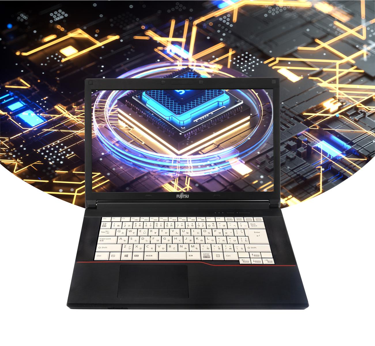 【中古】【Win i5/メモリ4GB/新品SSD240GB/15.6インチ液晶/DVD/無線LAN付/中古ノートパソコン(外付きテンキー、新品メモリー+新品SSD選択可能)WPS OFFICE /第3世代Core A573/HX 10搭載】【OFFICE搭載】富士通