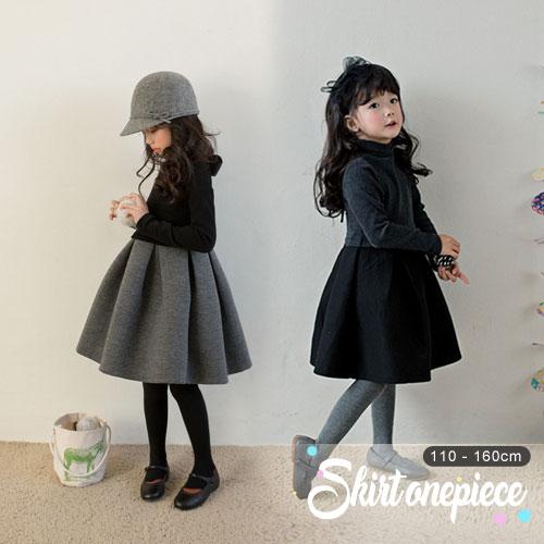 全2色シンプルなデザインカシミア生地のスカートワンピース 韓国子供服 子供服 子供 こども 販売期間 限定のお得なタイムセール トップ 税込 ボトム ドレス フレア スカート ワンピース カシミア 120cm 140cm 長袖 110cm 150cm キッズ 女の子 130cm 女児 ジュニア 160cm