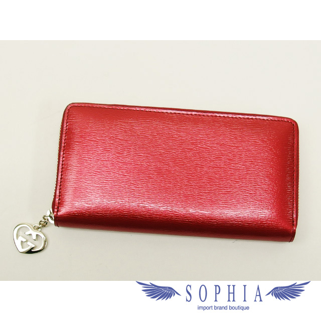 a1e8e736797 Gucci lovely large zip around wallet Red(SecondHand). Used - New. Details