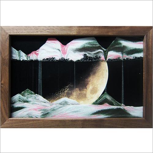 【KB collection オーストリア製】 サンドピクチャー sandpicture ムーンライト 22×33cm壁掛スタンド兼用砂絵 癒し系インテリア雑貨