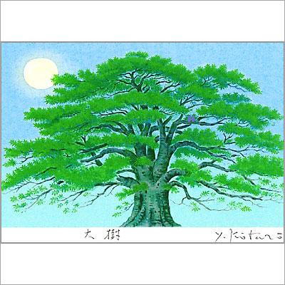 【ギフトラッピング付き】吉岡浩太郎 額縁付きシルクスクリーン(版画)557×442mm 大樹
