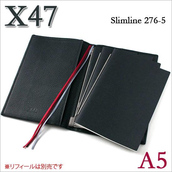 X47 ドイツ製 システム手帳 A5 スリムライン シュリンクレザー ブラック