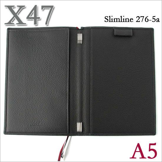 X47 ドイツ製 システム手帳 A5 スリムライン シュリンクレザー グレー