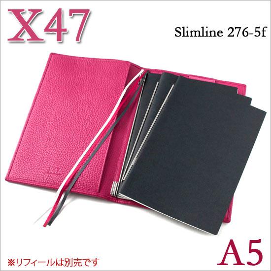 X47 ドイツ製 システム手帳 A5 スリムライン シュリンクレザー フューシャ ピンク