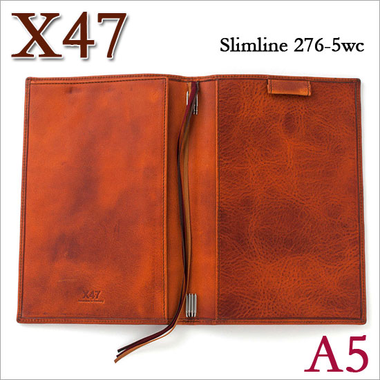 X47 ドイツ製 システム手帳 A5 スリムライン ビンテージコニャック ライトブラウン