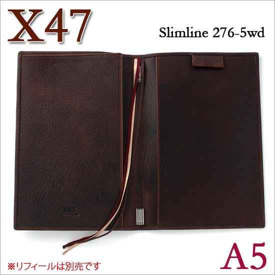 X47 ドイツ製 システム手帳 A5 スリムライン ビンテージカスタニア ダークブラウン