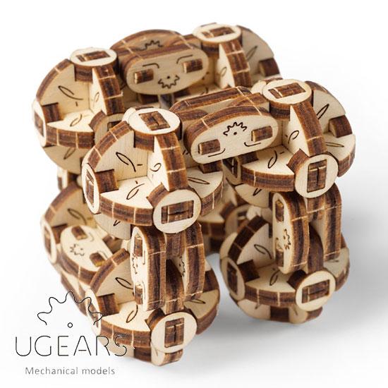 5☆大好評 Ugears 新品 送料無料 ユーギアーズ フレキシキューバース 木製組立立体パズル