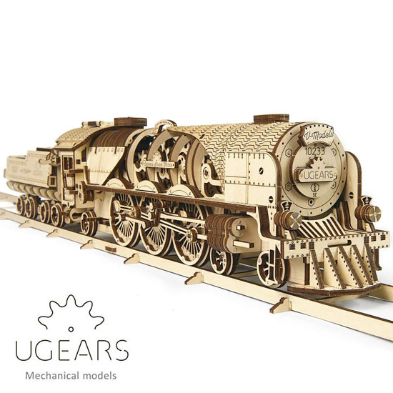 Ugears ユーギアーズ 木製組立立体パズル V Express 蒸気機関車