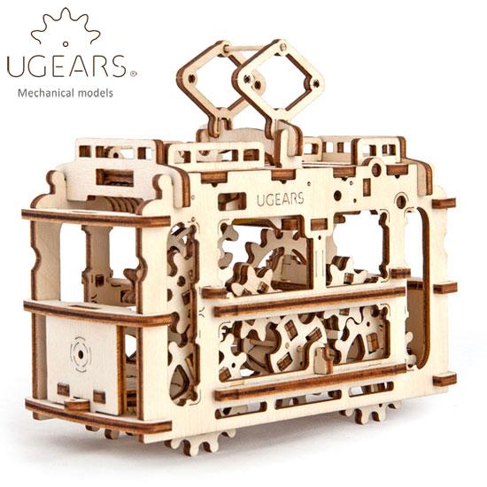 Ugears ユーギアーズ 木製組立立体パズル トラム