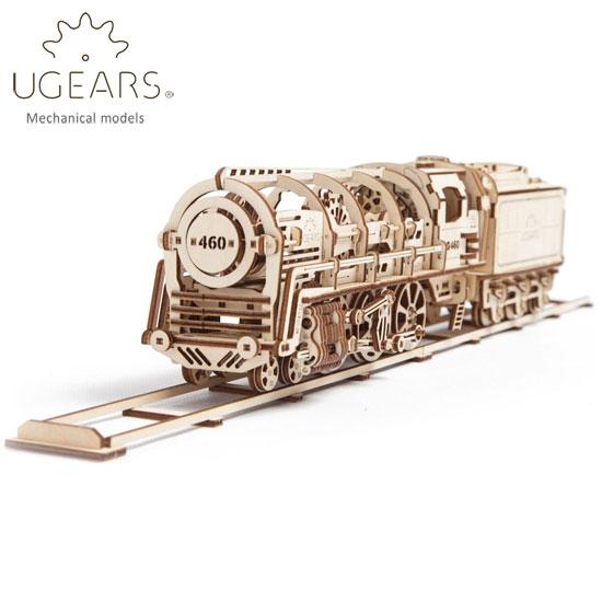 Ugears ユーギアーズ 木製組立立体パズル 蒸気機関車