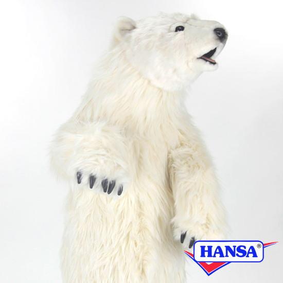 HANSA ハンサ ぬいぐるみ4486 シロクマの仔 POLAR BEAR CUB STANDING
