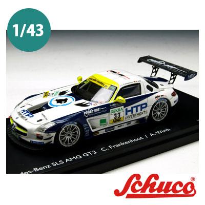 Schuco(シュコー)社ミニカー 450882400メルセデスベンツ SLS AMG GT3 #33 HEICO MOTORSPORT ドライバー Frankenhout/Wirth 1/43