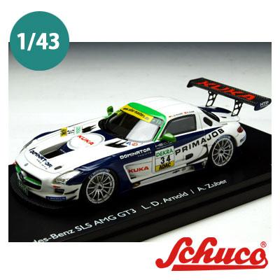 Schuco(シュコー)社ミニカー 450882500メルセデスベンツ SLS AMG GT3 #34 HEICO MOTORSPORT ドライバー Arnold/Zuber 1/43
