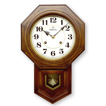 ボンボン 時打ち 八角振り子時計 アラビア数字 日本製 さんてる
