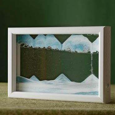 【KB collection オーストリア製】 サンドピクチャー sandpicture ホライゾンギャラリー アイスベルグ 14×21×3cm置き型砂絵 癒し系インテリア雑貨