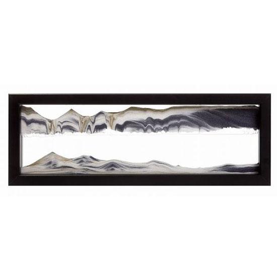 【KB collection オーストリア製】 サンドピクチャー sandpicture TXブラック 15×42×4cm置き型砂絵 癒し系インテリア雑貨