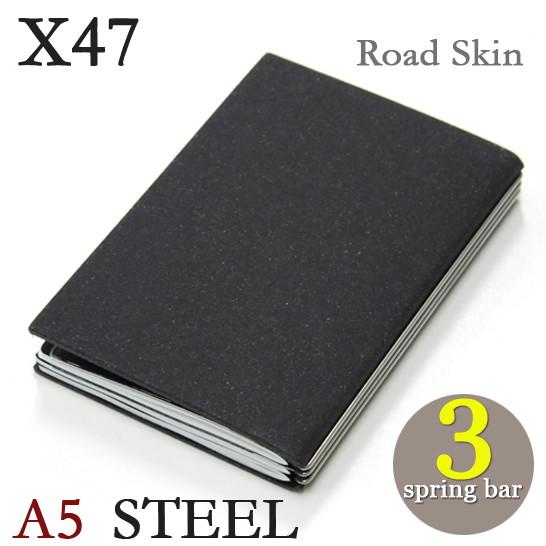 X47 STEEL ロードスキン A53本バー ドイツ製 ノートブック横罫・無地・方眼 ノートセット
