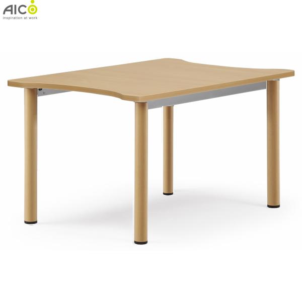 【送料無料】 福祉施設向けテーブル W800×D1200×H700 テーブル 木製テーブル 介護テーブル 福祉施設 介護施設 施設 補助テーブル ダイニングテーブル Aico アイコ 低ホルム グリーン購入法適合 【法人様限定】