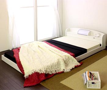 【送料無料】セミシングルサイズ 木製ベッド マットレス付き ホワイト/ブラック/ブラウン/ナチュラル [友澤木工]【smtb-tk】190-SS