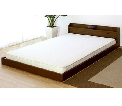 【送料無料】シングルサイズ 木製ベッド マットレス付き ホワイト/ブラック/ブラウン [友澤木工]【smtb-tk】268-S