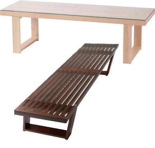 【送料無料】テーブル W115×D39×H35cm[東谷]NET-411NABR テーブル インテリア家具【smtb-tk】