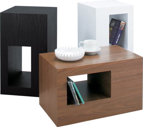 【送料無料】セル サイドテーブル 2個セット W28×D28×H48cm [東谷] CEL-70BKWALWH テーブル インテリア家具【smtb-tk】