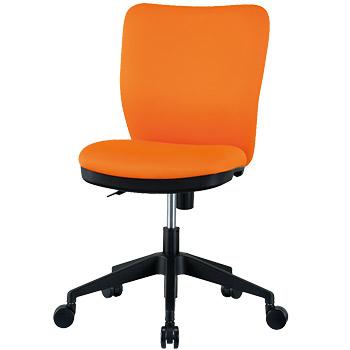オフィス家具 椅子 ミドルバック オフィスチェア パソコンチェア デスクチェア オレンジ/ライム/ブラック/ブルー/PVCブラック GD-345【smtb-tk】