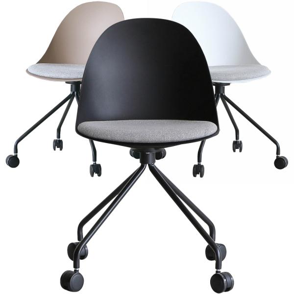 かわいいだけでなく 幅広く使えます EGG OFFICR CHIR 樹脂タイプ 座クッション オフィスチェア ミーティングチェア デスクチェア 事務椅子 おしゃれ エッグチェア 会議用チェア 椅子 25%OFF オフィス家具 いす チェアー 在庫処分 イス チェア オフィスチェアー OAチェア キャスター PCチェア 関家具