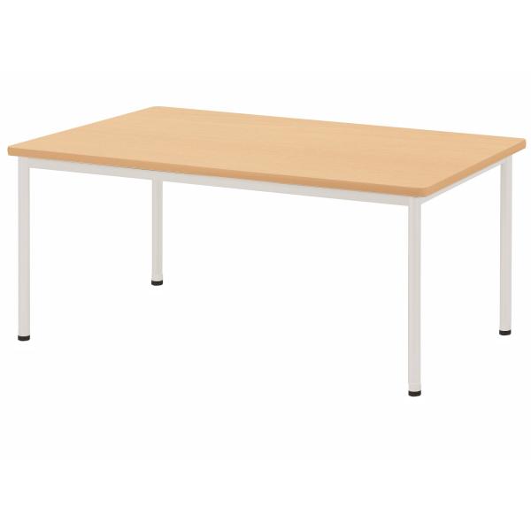 【法人限定】会議テーブル 角型 幅1200×奥行750×高さ720mm ソフトエッジ アジャスタータイプ 4本脚 AWB-1275K ペールウッド ホワイト テーブル 会議用テーブル ミーティングテーブル NISHIKI ニシキ工業