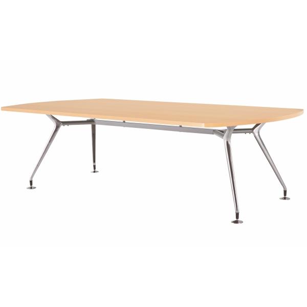 【法人限定】会議テーブル ボート型 幅2400×奥行1200×高さ720mm 4本脚 スタンダードタイプ CAD-2412B 高級会議テーブル ダークウッド ペールウッド オフホワイト テーブル 会議用テーブル ミーティングテーブル NISHIKI ニシキ工業