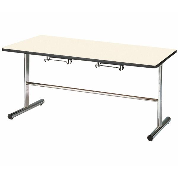【法人限定】会議テーブル 幅1500×奥行750×高さ700mm 4人用 休憩テーブル HG-1575 ソフトエッジ テーブル 会議用テーブル ミーティングテーブル 食堂用テーブル 食堂テーブル NISHIKI ニシキ工業