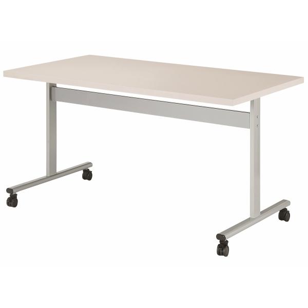 【法人限定】会議テーブル 角型 幅1200×奥行750×高さ720mm 対立脚 HIS-1275KC キャスタータイプ ダークウッド ペールウッド ニューグレー オフホワイト テーブル 会議用テーブル ミーティングテーブル NISHIKI ニシキ工業