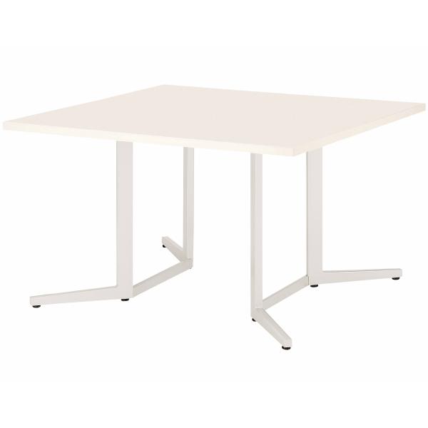 【法人限定】会議テーブル 幅1200×奥行1200×高さ720mm 対立脚 KH-1212K スタンダードタイプ 角型 ダークウッド ペールウッド オフホワイト テーブル 会議用テーブル ミーティングテーブル NISHIKI ニシキ工業