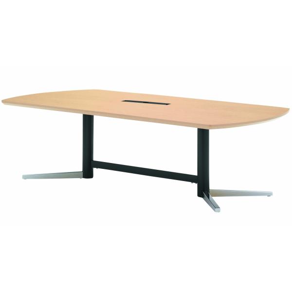クリエイティブなミーティング空間に 法人限定 エグゼクティブテーブル 幅2400×奥行1200×高さ700mm 低廉 KV-2412W ワイヤリングBOXタイプ クロームメッキ脚 高級会議テーブル ダークウッド ミーティングテーブル 最安値 ニシキ工業 会議用テーブル マホガニー ペールウッド NISHIKI 会議テーブル