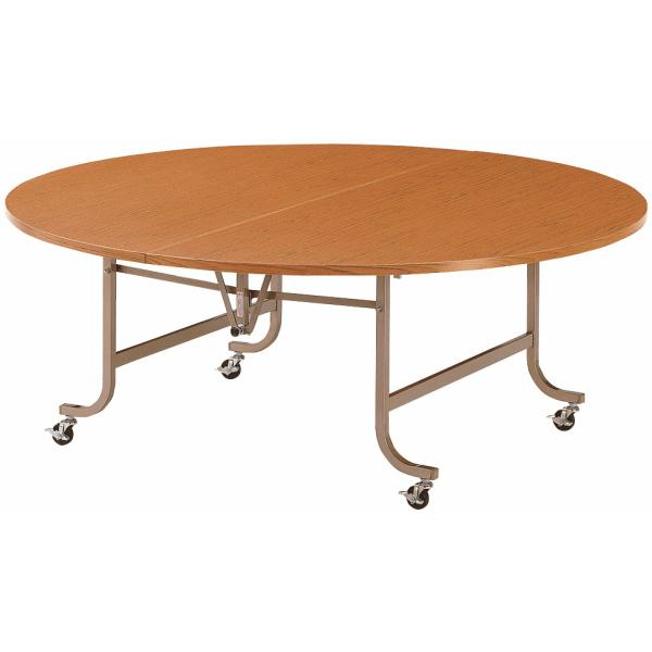 【法人限定】フライトテーブル 丸型 共巻 900φ×高さ700mm 折りたたみテーブル LK-900RT ローズ チーク アイボリー テーブル レセプションテーブル 会議テーブル 折畳 折り畳み 長机 ミーティングテーブル NISHIKI ニシキ工業