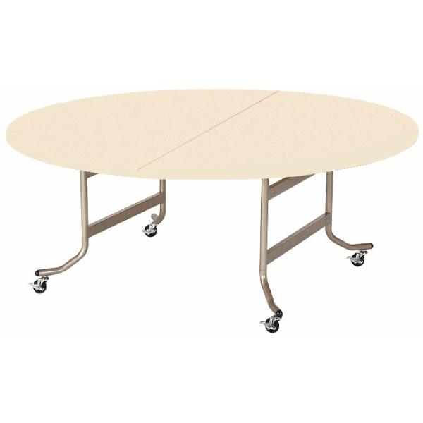 【法人限定】フライトテーブル 丸型 共巻 900φ×高さ700mm 折りたたみテーブル OS-900RT ローズ チーク アイボリー テーブル レセプションテーブル 会議テーブル 折畳 折り畳み 長机 ミーティングテーブル NISHIKI ニシキ工業