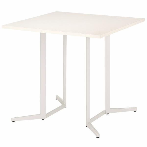 【法人限定】会議テーブル 正方形 幅900×奥行900×高さ1000mm ハイテーブル SKH-0909K ダークウッド ペールウッド オフホワイト テーブル 会議用テーブル ミーティングテーブル NISHIKI ニシキ工業