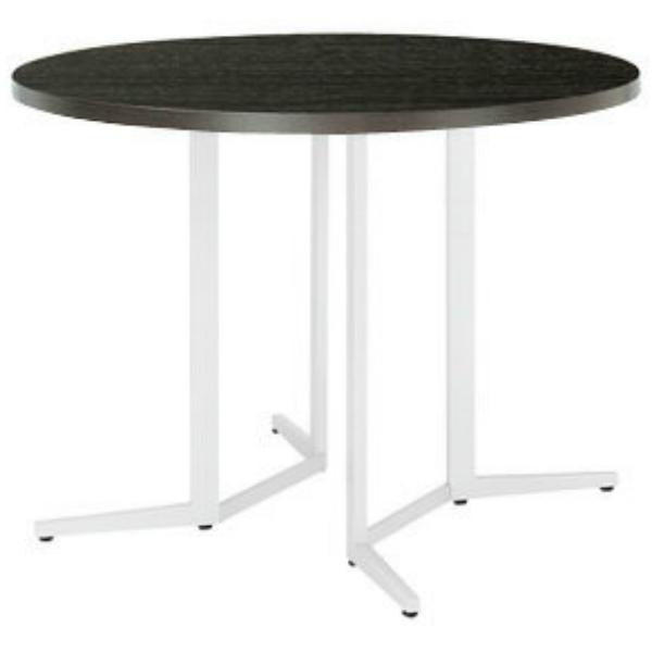 【法人限定】会議テーブル 丸型 1200φ×高さ1000mm ハイテーブル SKH-1200R ダークウッド ペールウッド オフホワイト テーブル 会議用テーブル ミーティングテーブル NISHIKI ニシキ工業