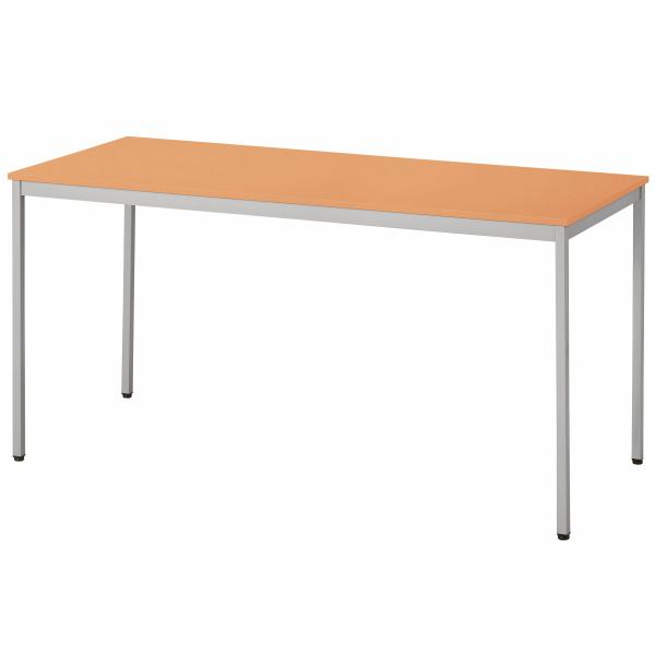 【法人限定】会議テーブル 幅1200×奥行750×高さ700mm 4本脚 UKR-1275 ダークオーク メープル ニューグレー オフホワイト テーブル 会議用テーブル ミーティングテーブル NISHIKI ニシキ工業