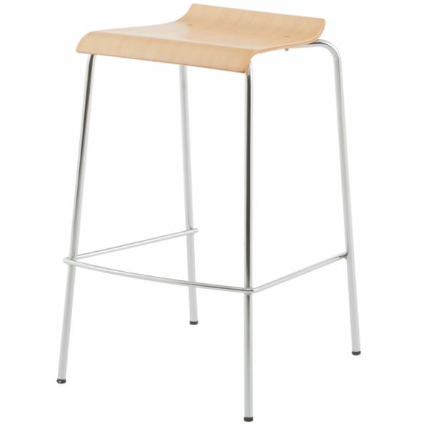 ローバックハイチェア ナチュラル (2脚入り) RFC-FPHNWJ-2SET アールエフヤマカワ RFyamakawa 椅子 会議用椅子 会議椅子 イス ミーティングチェア カフェチェア ハイスツール カウンターチェア バースツール オフィス家具