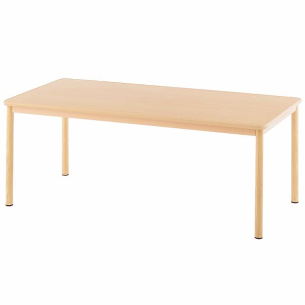 介護用テーブル W1800xD900 ナチュラル RFKTB-1890NA アールエフヤマカワ RFyamakawa 高さ調整 机 車椅子用 ダイニングテーブル 食卓 木製テーブル 介護テーブル 福祉施設 補助テーブル ダイニングテーブル