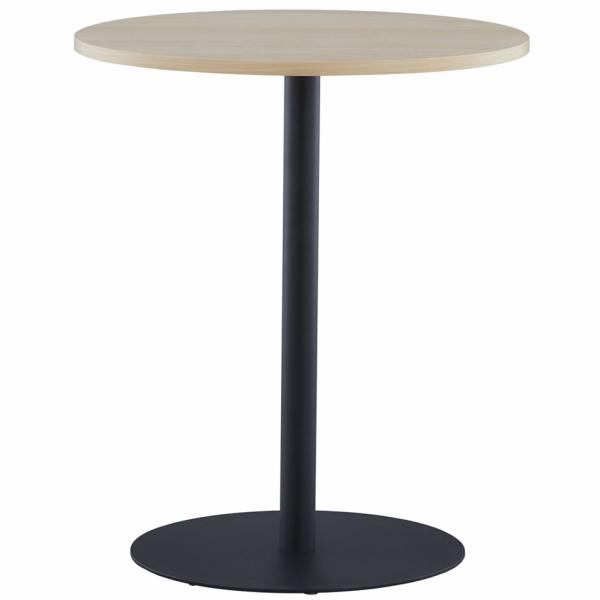 リフレッシュテーブル3 φ600 ナチュラル ブラック脚 RFRT3-600NA-BL アールエフヤマカワ RFyamakawa 丸テーブル 円テーブル 会議テーブル 商談 休憩スペース 円形 丸型 カフェテーブル オフィス家具