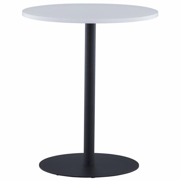 リフレッシュテーブル3 φ600 ホワイト ブラック脚 RFRT3-600WH-BL アールエフヤマカワ RFyamakawa 丸テーブル 円テーブル 会議テーブル 商談 休憩スペース 円形 丸型 カフェテーブル オフィス家具