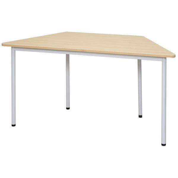 ラディー RFシンプルテーブル W1400 台形 ナチュラル RFSPT-1470DNA アールエフヤマカワ RFyamakawa オフィスデスク オフィステーブル 会議用テーブル 事務机 多目的 会議テーブル ミーティングテーブル 教育施設 塾 医療施設 オフィス家具