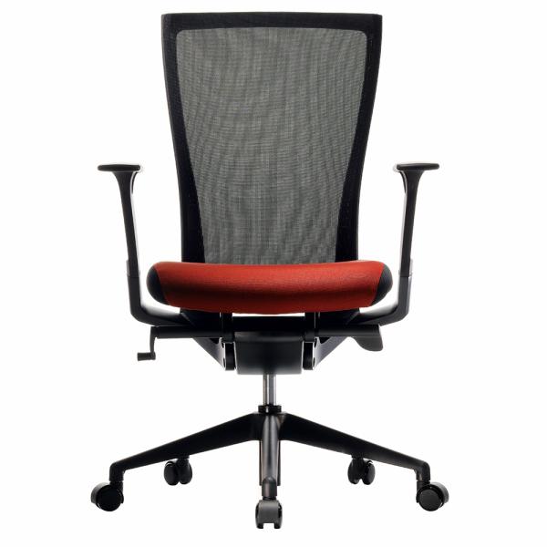 FURSYS T50チェア レッド T500FU-553B アールエフヤマカワ RFyamakawa オフィス 昇降 ワークチェア オフィスチェア キャスター付き 高機能 メッシュチェア 回転椅子 事務椅子 オフィス家具