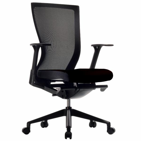 FURSYS T50チェア ブラック T500FU-556B アールエフヤマカワ RFyamakawa オフィス 昇降 ワークチェア オフィスチェア キャスター付き 高機能 メッシュチェア 回転椅子 事務椅子 オフィス家具